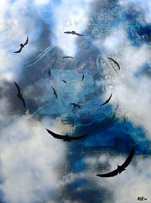 birds of apocalypse VI Art Print by Poul Costinsky