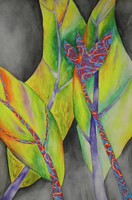 Birds Of Bananas  Art Print