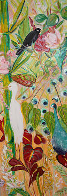 Wall Art - Painting - Birds Of Hawai'i by Evelyn Niehaus