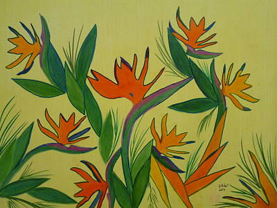 Strelitzia Painting - Birds Of Paradise by Elizabeth Ribet