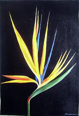 Painting - Birds Of Paradise Flower  II by Samiran Sarkar