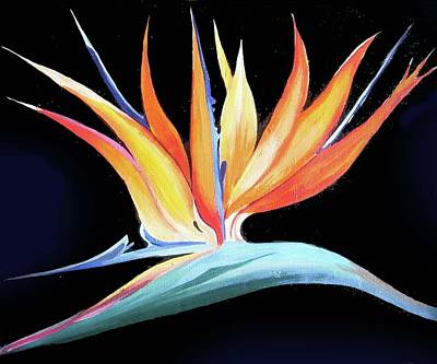 Painting - Birds Of Paradise Flower by Samiran Sarkar