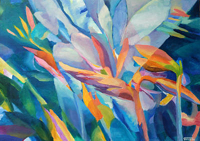 Vivid Colour Painting - Flower Floral Painting  by Magdalena Walulik