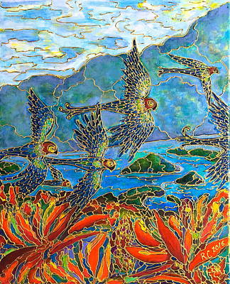 Painting - Birds Of Paradise by Rae Chichilnitsky