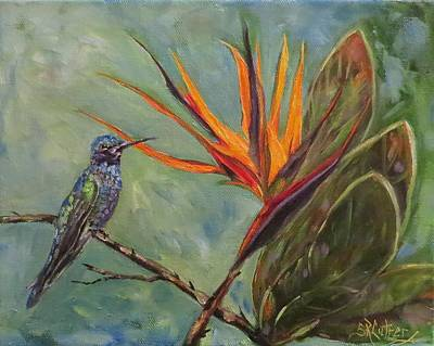 Painting - Birds Of Paradise by Sandra Cutrer