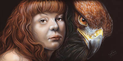 Zeus Painting - Birds Of Prey - Golden Eagle by Wayne Pruse