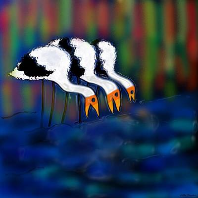 Digital Art - Birds Of Same Feather by Latha Gokuldas Panicker