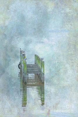 Abandoned Digital Art - Birds On Abandoned Dock by Randy Steele