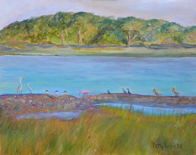 Painting - Birds On The Matanzas River by Patty Weeks