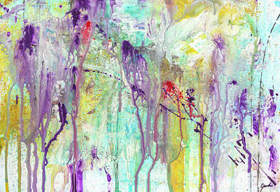 Painting - Birds On The Wire - Colorful Bright Modern Abstract Art Painting by Modern Art Prints