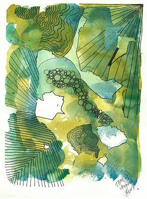 Drawing - Bird's Perspective by Julia Zoellner