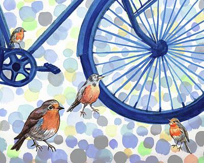 Painting - Birds Rally by Irina Sztukowski