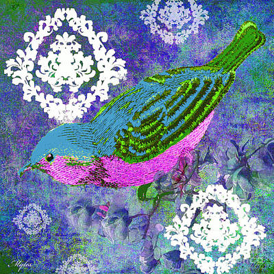 Painting - Birds So Pretty by Saundra Myles