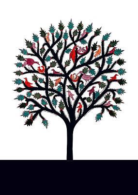 Photograph - Birds Tree by Munir Alawi