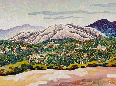 Birdseye Landscape #4 Art Print by Dale Beckman