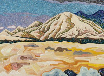 Abstract Realist Landscape Mixed Media - Birdseye Landscape #5 by Dale Beckman