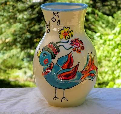 Ceramic Art - Birdsong by Lisa Dunn