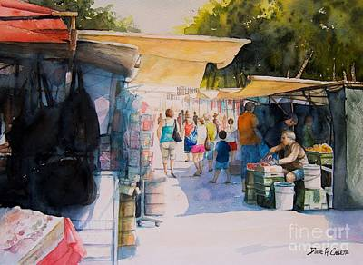 Birgu Painting - Birgu  by Diane Agius
