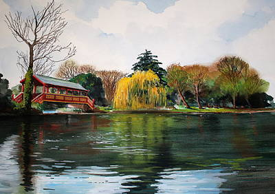 Painting - Birkenhead Park, by Steve Jones