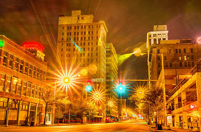 Birmingham Alabama Evening Skyline Art Print by Alex Grichenko