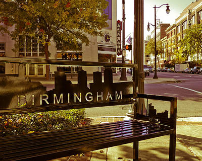 Photograph - Birmingham Bench by Just Birmingham