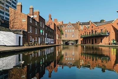 Photograph - Birmingham Canal Reflection, Uk by Alexandre Rotenberg