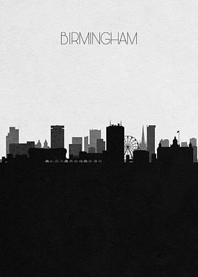 Digital Art - Birmingham Cityscape Art by Inspirowl Design