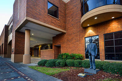 Photograph - Birmingham Civil Rights Institute With Statue by Michael Thomas