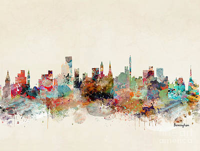Painting - Birmingham England by Bleu Bri