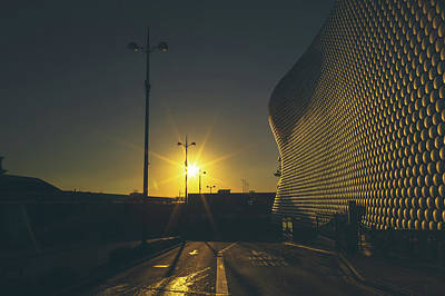 Selfridge Photograph - Birmingham Morning Starburst by Chris Fletcher