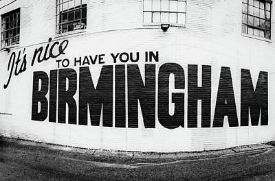 Photograph - Birmingham Sign by Parker Cunningham
