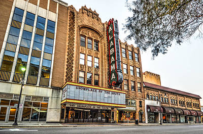Photograph - Birmingham Theater From Front by Michael Thomas