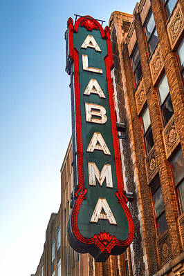 Photograph - Birmingham Theater Sign by Michael Thomas