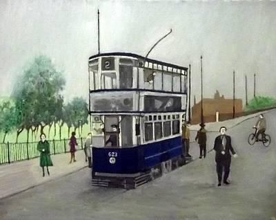 Birmingham Tram With Figures Art Print