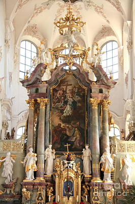 Photograph - Birnau Church Altar by Frank Townsley