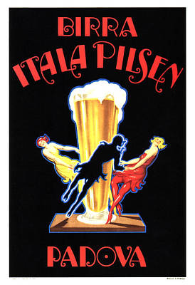 Mixed Media - Birra Itala Pilsen - Vintage Beer Advertising Poster by Studio Grafiikka