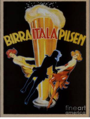 Painting - Birra Itala Pilsen Vintage Poster by R Muirhead Art