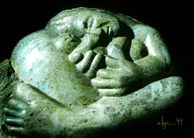 Sculpture - Birth Bliss by Angela Treat Lyon