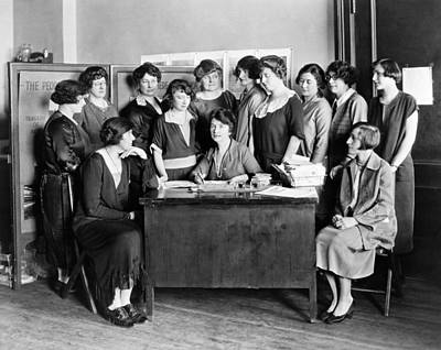 Group Of Women Talking Photograph - Birth Control Pioneer Sanger by Underwood & Underwood