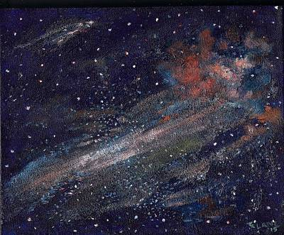Painting - Birth Of A Galaxy by Elizabeth Lane