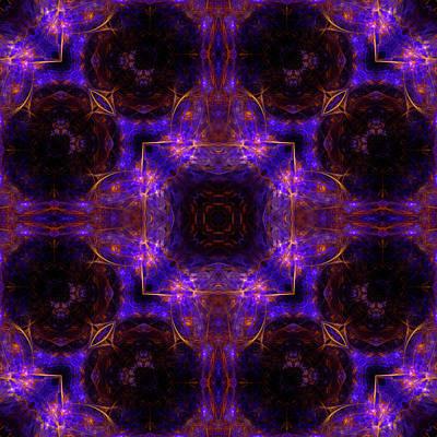 Space Digital Art - Birth Of A Supernova Mandala 18 by Julia Bagryanskaya
