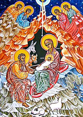 Painting - Birth Of Christ by Munir Alawi