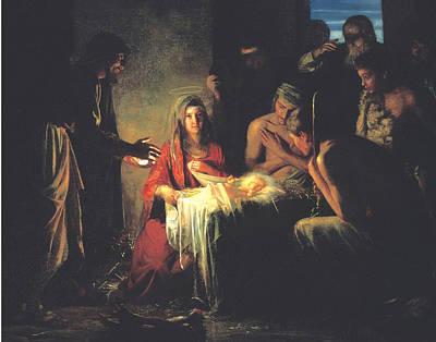 Birth Of Jesus Christ Art Print