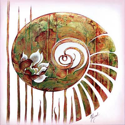 Painting - Birth Of Lotus Land by Anna Ewa Miarczynska