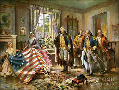 Birth Of Old Glory 1777 Art Print by Science Source