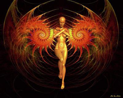 Digital Art - The Birth Of Phoenix by Lilia D