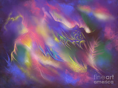 Art Print featuring the digital art Birth Of The Phoenix by Amyla Silverflame