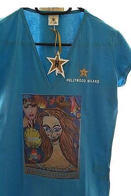 Botticelli Mixed Media - Birth Of Venus Exclusive T-shirt Hollywood-milano by Francesco Martin