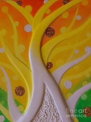 Painting - Birth Yellow Gold by Kumiko Mayer