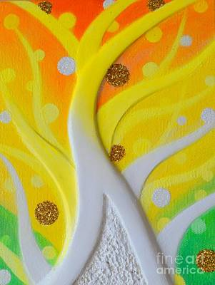 Painting - Birth Yellowgold 3 by Kumiko Mayer